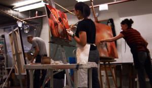 Painting_students_art_league_school